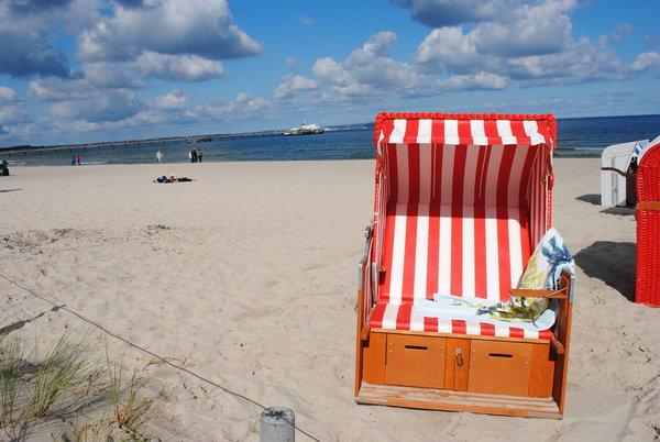 eigener kostenfreier Strandkorb am Strand