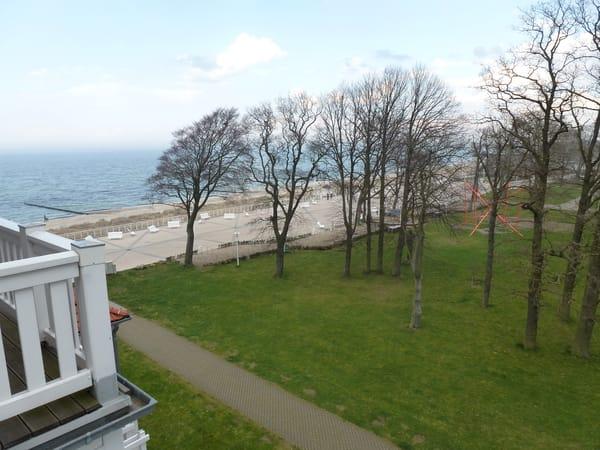 Blick vom Balkon im 4. OG