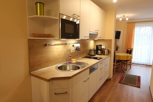 2017 erneuerte Küchenzeile zur Selbstverpflegung