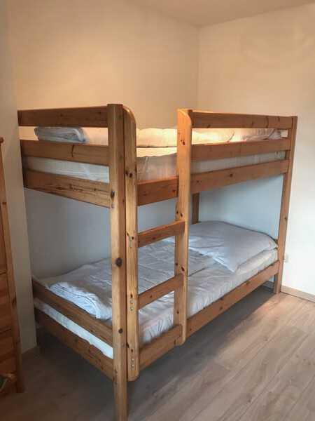 Das zweite Schlafzimmer mit Doppelstockbett