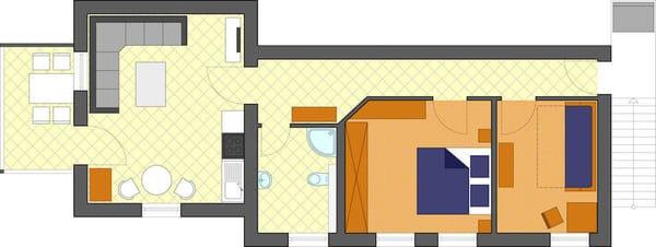 Grundriss Villa Bellevue, Wohnung 15
