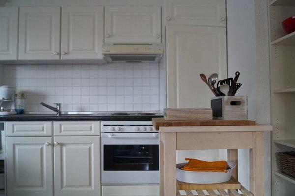 Die Küchenzeile mit allem was benötigt wird…..