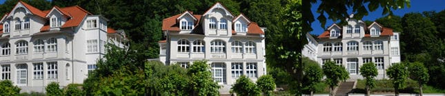 Die herrschaftliche Villa LI mit Bäderhausarchitektur in der Prachtstrasse Rügens - der Wilhelmstrasse