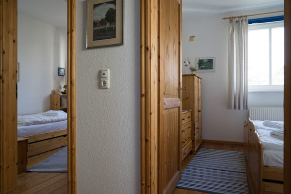 Einzel- und Doppelzimmer aus einem anderen Blickwinkel
