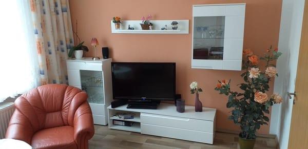 Wohnkombination mit Flachbildschirm im Wohnzimmer