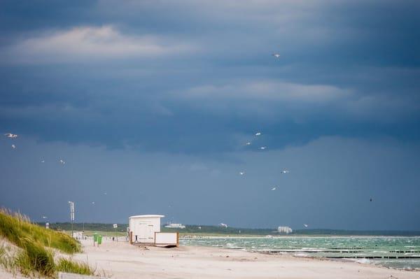 Blick auf die stürmische Ostsee