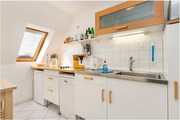 Die separate Küche ...