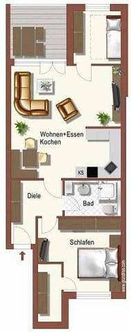 """Grundriss der Wohnung """"Heidesee"""""""