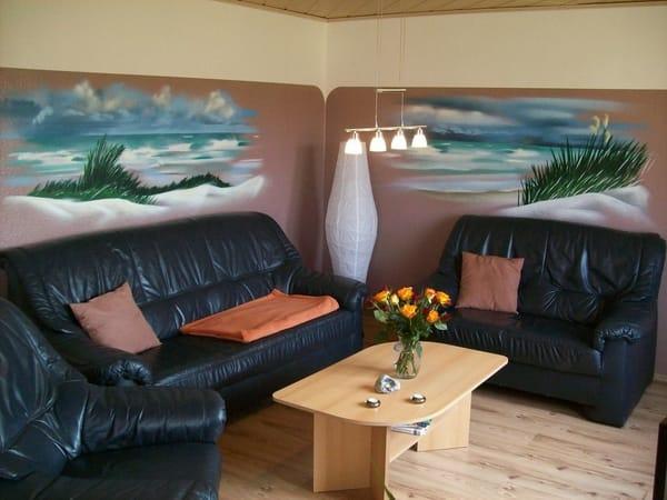 Sofaecke im Wohnzimmer mit TV