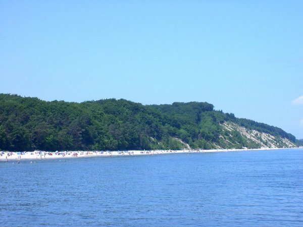 Blick vom Seesteg auf die Steilküste Bansin