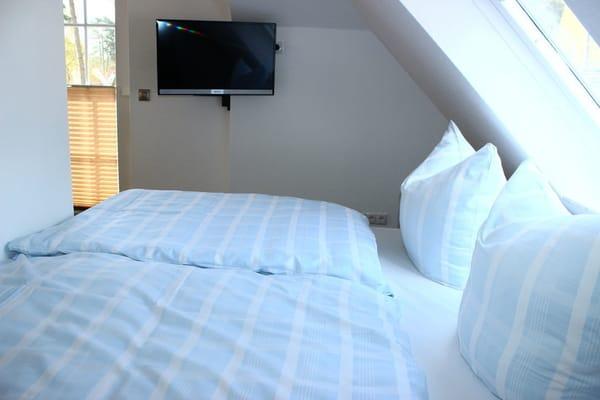 Schlafbereich mit 1,80 m Doppelbett