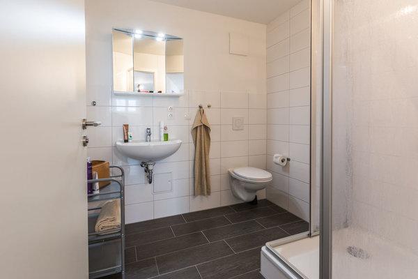 Der Handwaschbereich im Bad.