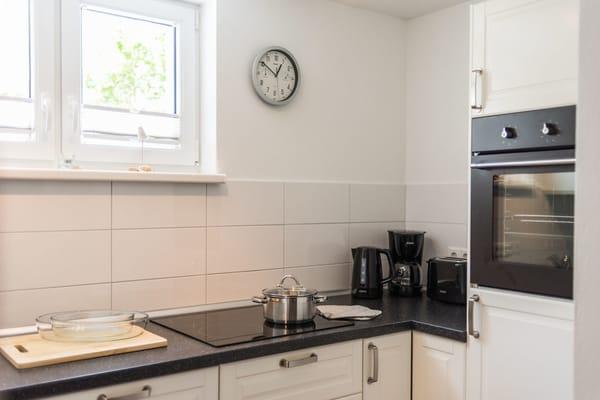Die Küche ist ein separater, offener Bereich.