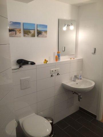 Der Sanitärbereich im Duschbad.
