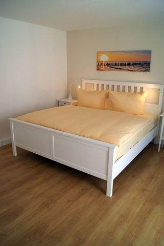 Die Betten haben eine bequeme Einstiegshöhe.