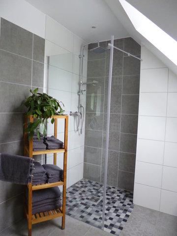 großzügige, ebenerdige  Dusche