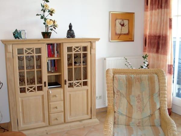 Massivholzmöbel im Wohnzimmer
