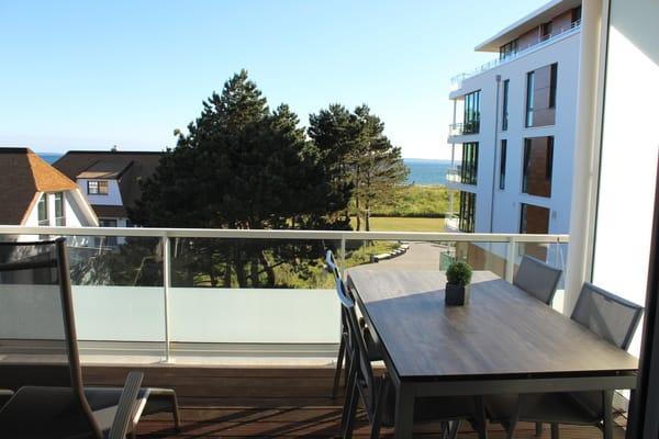 Der Balkon in Südausrichtung und Meerblick
