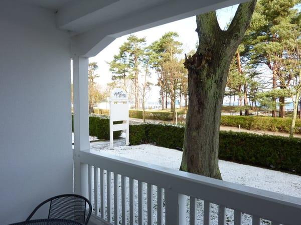 Auch im Winter ist es wunderschön auf dem Balkon und auf Rügen!