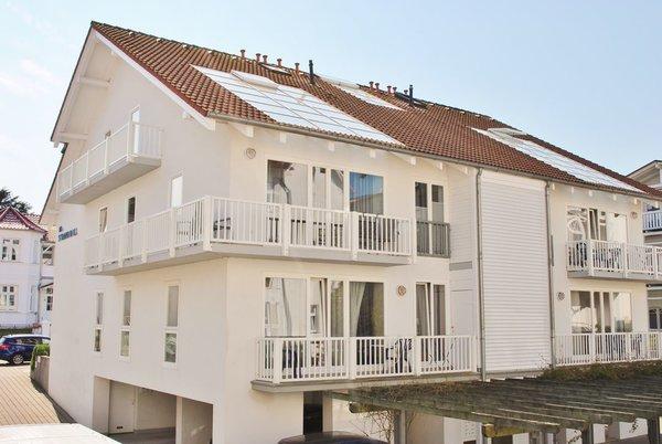 Villa Strandidyll HH, das App. Utbüxen ist mittig im Bild über 2 Etagen