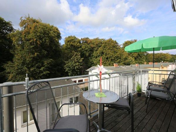 Balkon Richtung Buchenpark