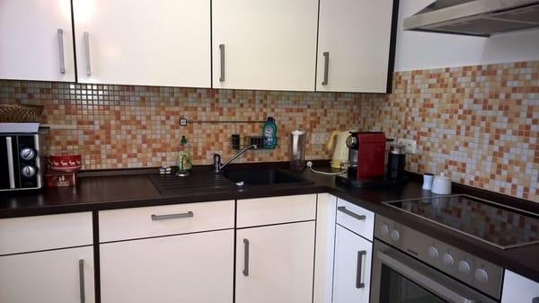Separate und exclusiv ausgestattete Küche mit allen Annehmlichkeiten.
