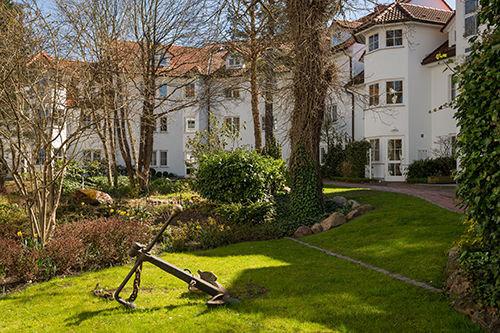 Die Gartenanlage von Haus Granitz.