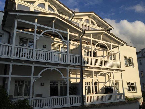 Der Balkon mit Strandkorb