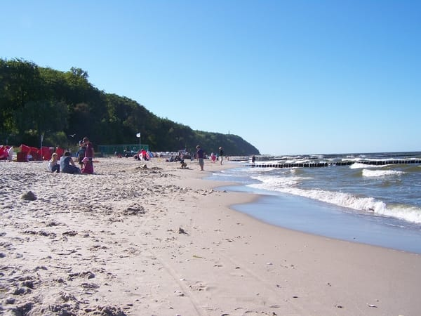 im Sommer am Strand