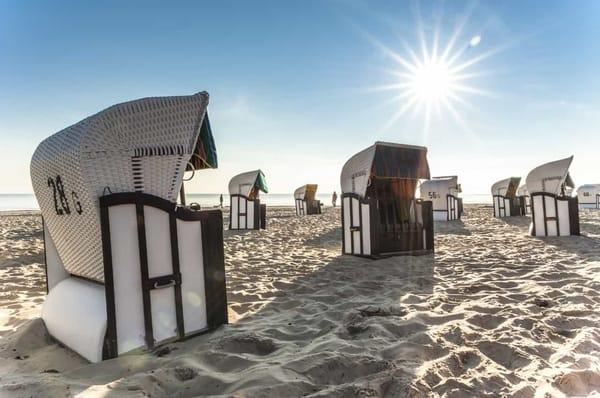 relaxen im Strandkorb