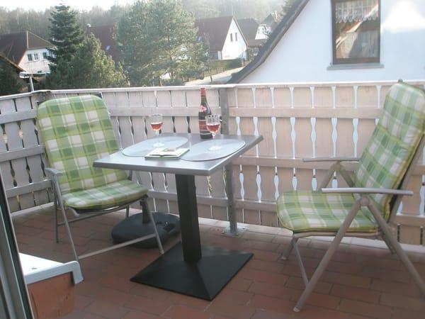 Entspannen Sie auf dem Balkon