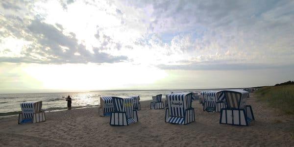 Romantische Stimmung am Strand