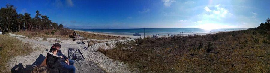 Panoramabild von schönsten Ostseestrand