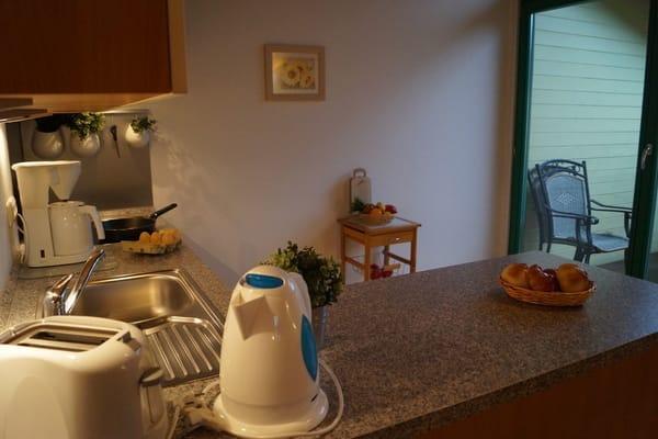 Kaffeemaschine, Wasserkocher und Toaster