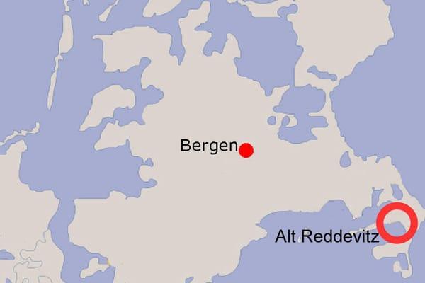 Lage von Alt Reddevitz auf Rügen