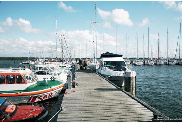 Der Hafen von Breege - von hier aus geht es direkt nach Hiddensee oder auch zu Störtebeker Festspielen