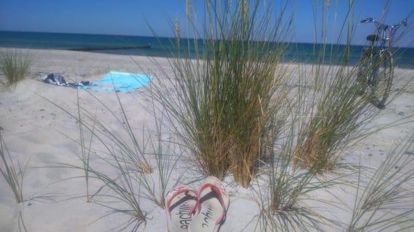 der Strand wartet auf Sie