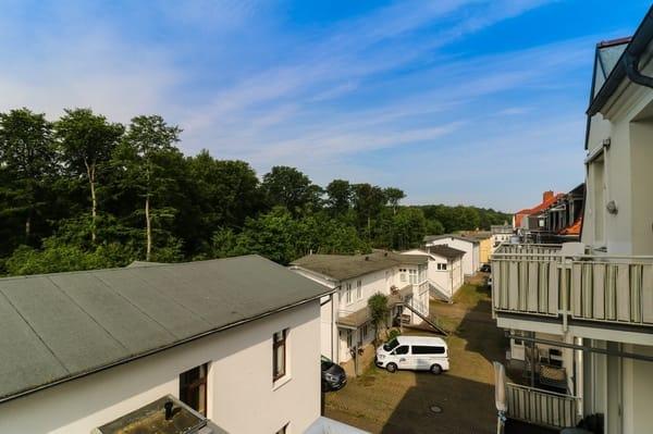 Blick vom Balkon Buchenpark
