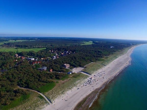 Dierhagen Strand, 300 m vom Haus entfernt