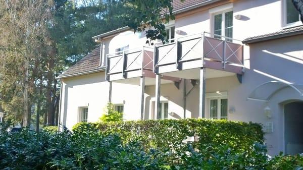 Die sonnigen Balkone unserer Appartements 111 + 110