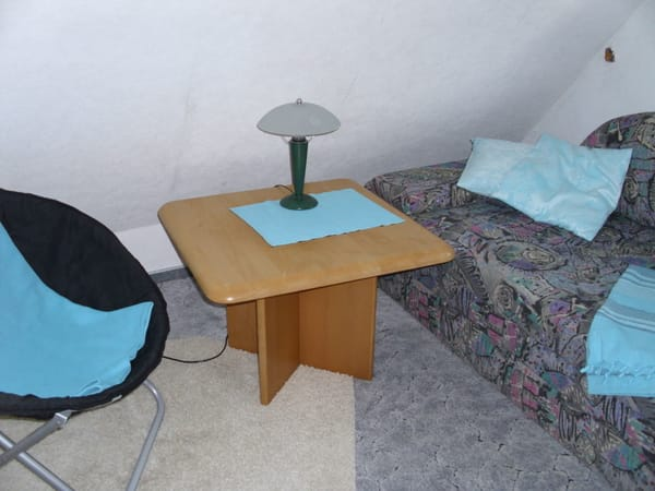 Wohnbereich oben mit Fernseher