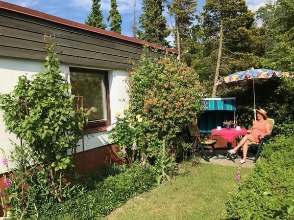 Terasse im Garten direkt am Haus