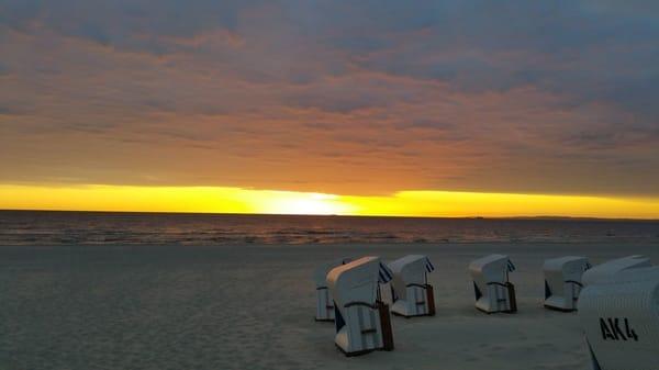 Sonnenaufgang am Ahlbecker Strand