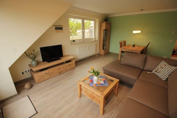 Wohnzimmerbereich - neu ausgestattet