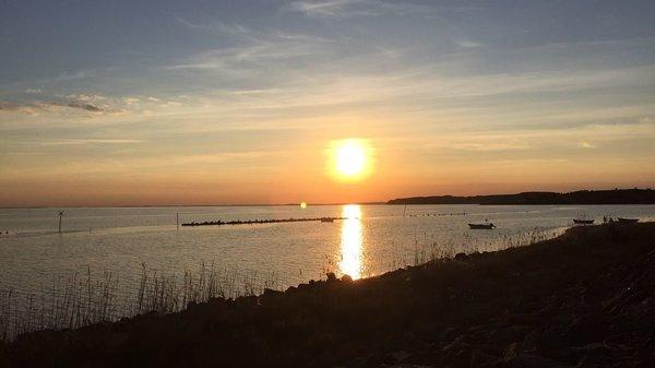 Sonnenuntergang am Strand von Thiessow