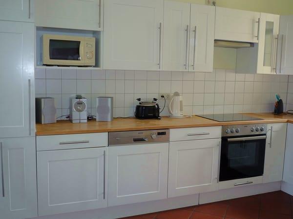 Blick in die Küche.