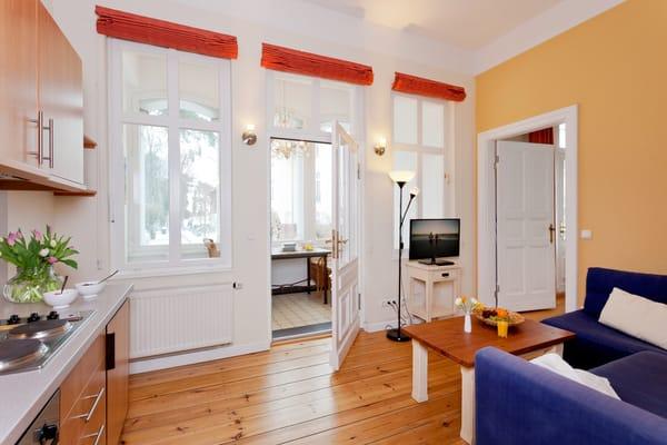 Das gemütliche und zugleich helle 2-Raum-Appartement Nr. 7 der Villa San Remo ...