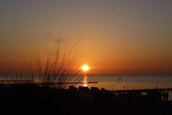 Sonnenuntergang Strand Zingst