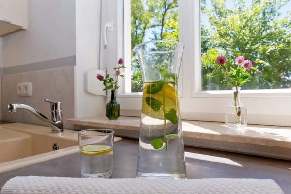 ... verfügt zudem über Kühlschrank, Mikrowelle, Ceran-Kochfeld (4 Platten), ...