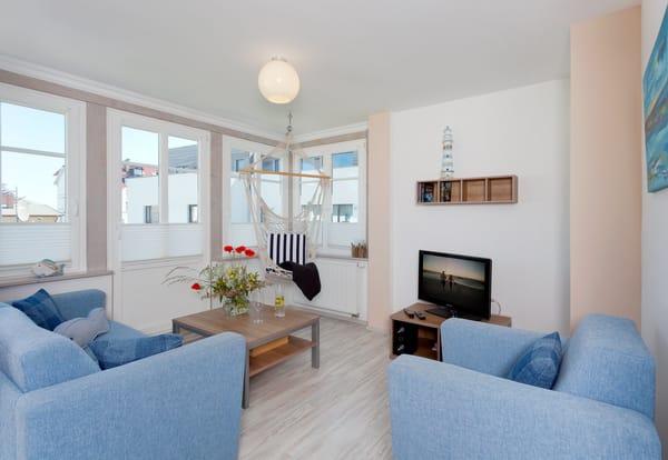 Das 2-Raum Appartement befindet sich im 1. Obergeschoss der Ahlbecker Höhe im Fischwerweg 4 im Seebad Ahlbeck ...